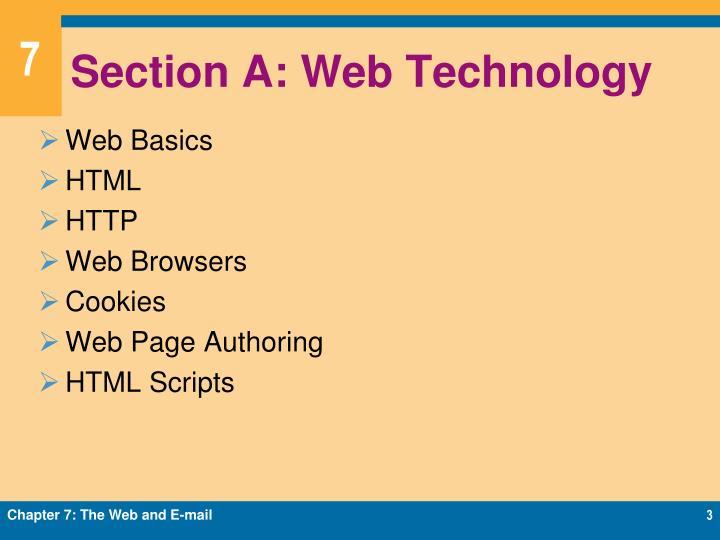 Section A: Web Technology