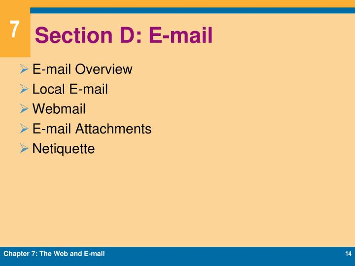Section D: E-mail