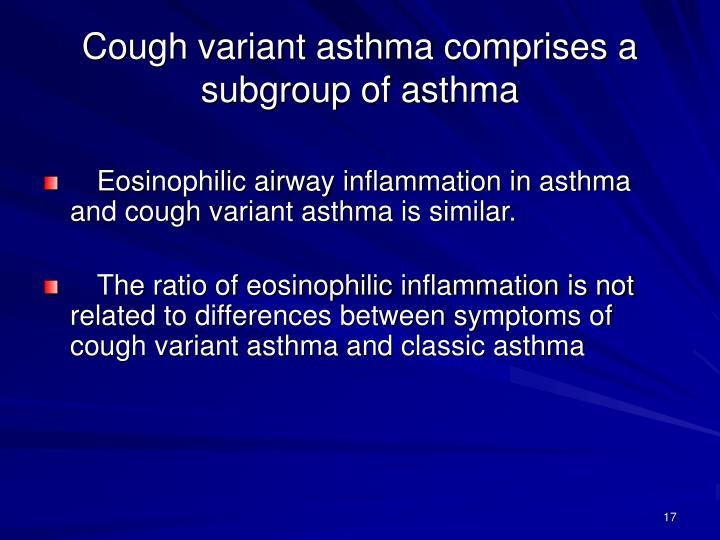 Cough variant asthma comprises a subgroup of asthma