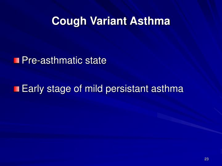 Cough Variant Asthma