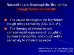 nonasthmatic eosinophilic bronchitis cough reflex sensitivity