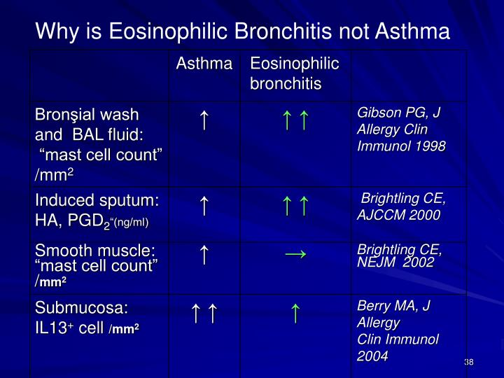 Why is Eosinophilic Bronchitis not Asthma