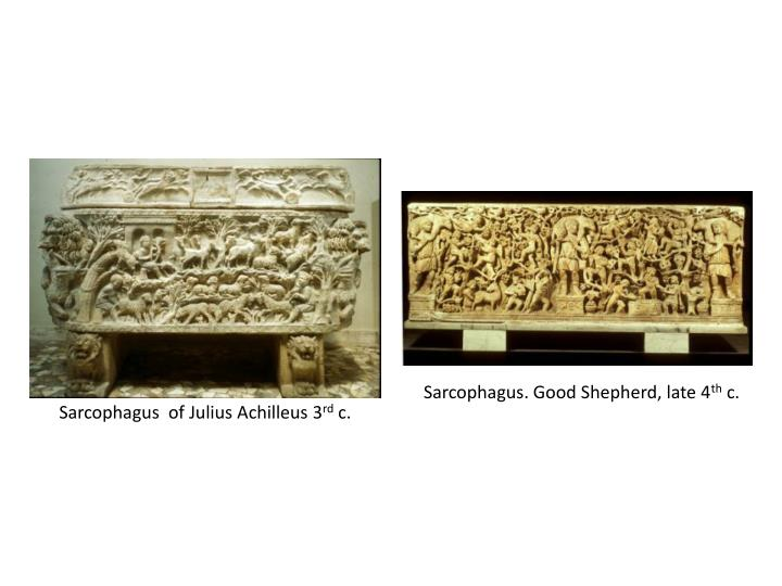 Sarcophagus. Good Shepherd, late 4