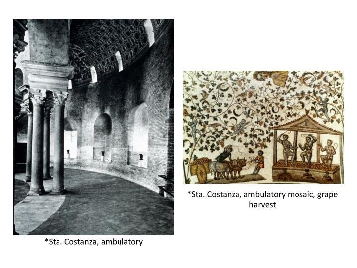 *Sta. Costanza, ambulatory mosaic, grape harvest
