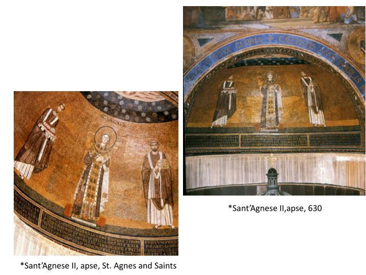 *Sant'Agnese II, apse, St. Agnes and Saints