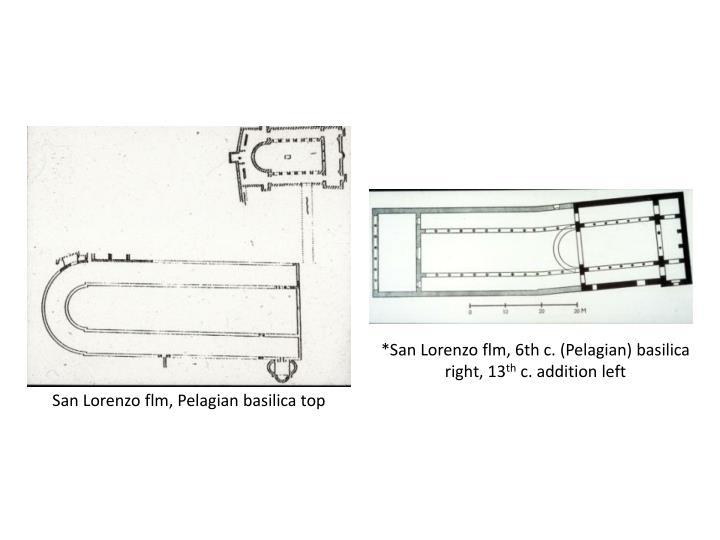 *San Lorenzo flm, 6th c. (Pelagian) basilica right, 13
