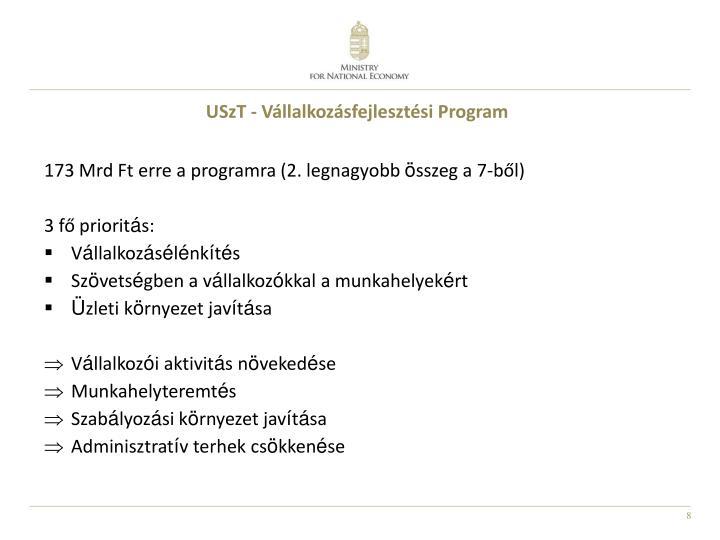 USzT - Vállalkozásfejlesztési Program