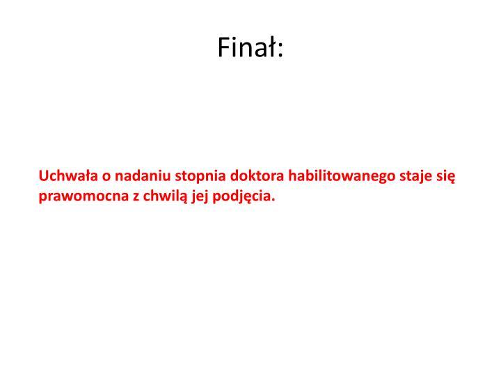 Finał: