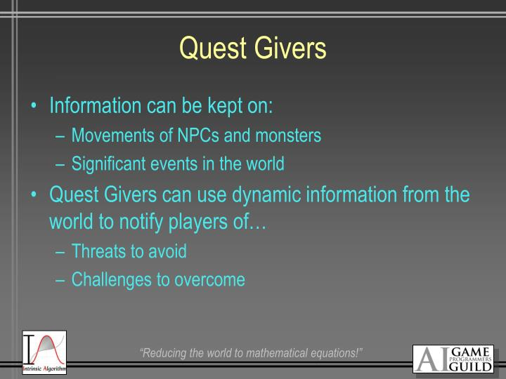 Quest Givers
