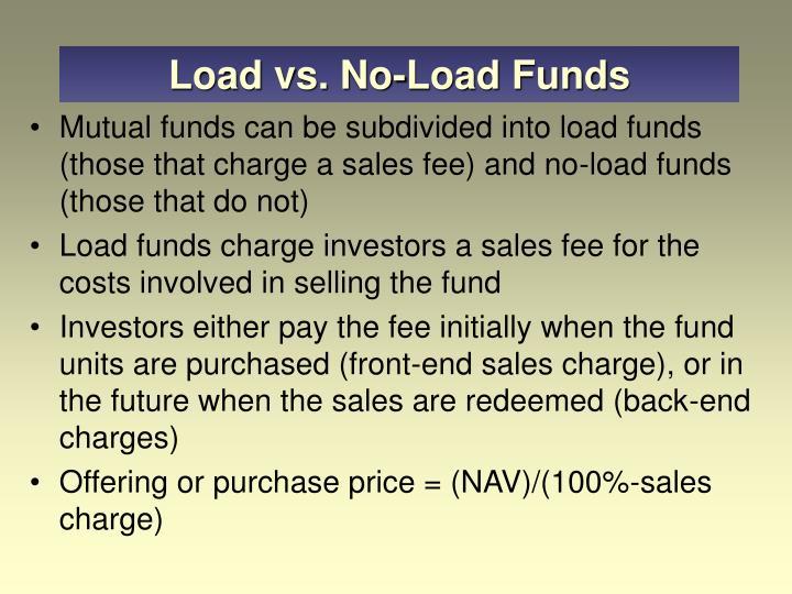 Load vs. No-Load Funds