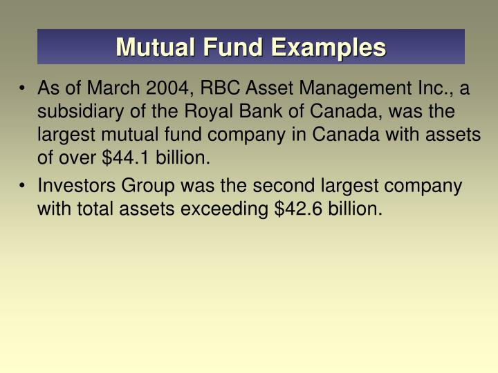 Mutual Fund Examples