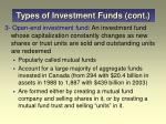 types of investment funds cont2