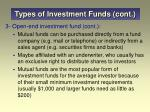 types of investment funds cont3