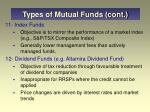 types of mutual funds cont7