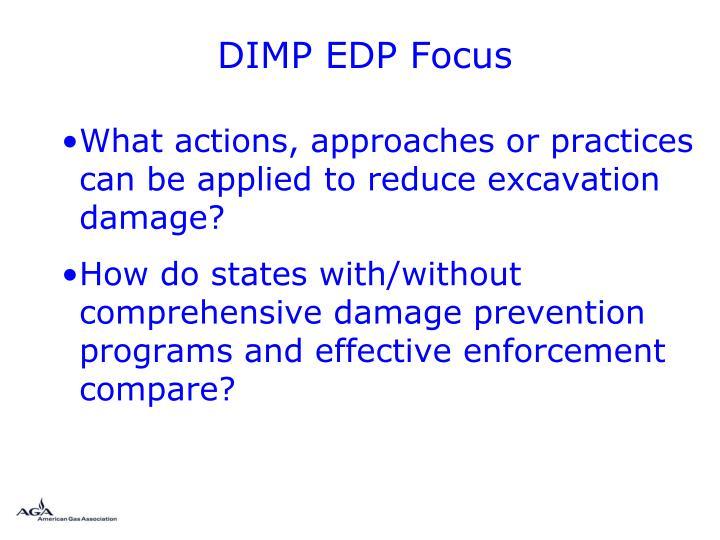 DIMP EDP Focus