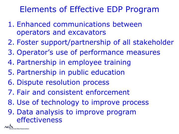 Elements of Effective EDP Program