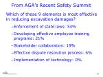 from aga s recent safety summit