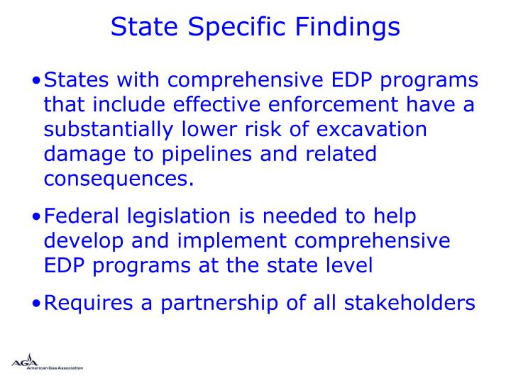 State Specific Findings