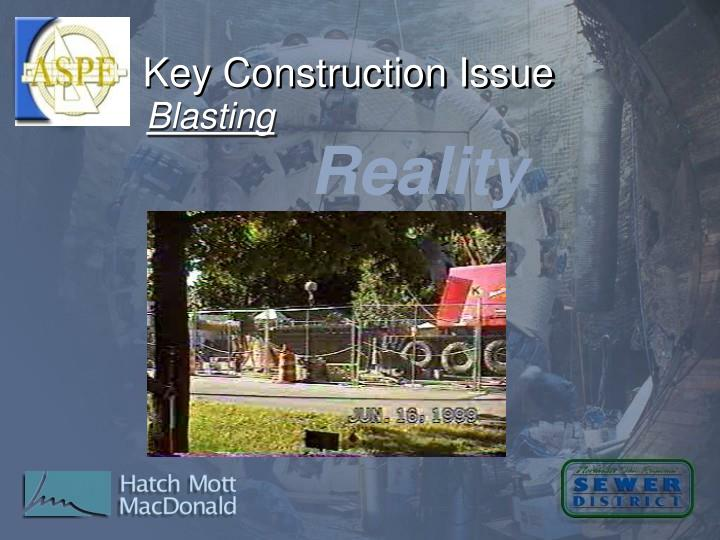 Key Construction Issue
