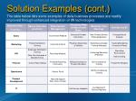 solution examples cont