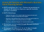 unlock iw potential with microsoft s business value planning service