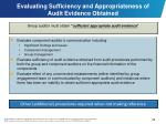 evaluating sufficiency and appropriateness of audit evidence obtained
