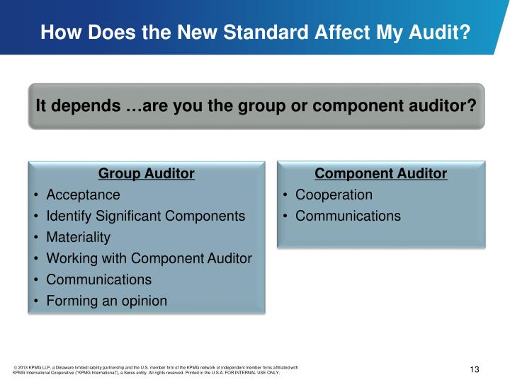 How Does the New Standard Affect My Audit?