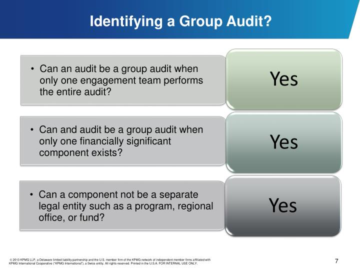 Identifying a Group Audit?