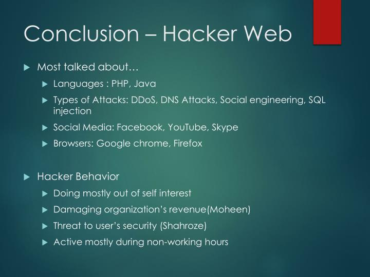 Conclusion – Hacker Web
