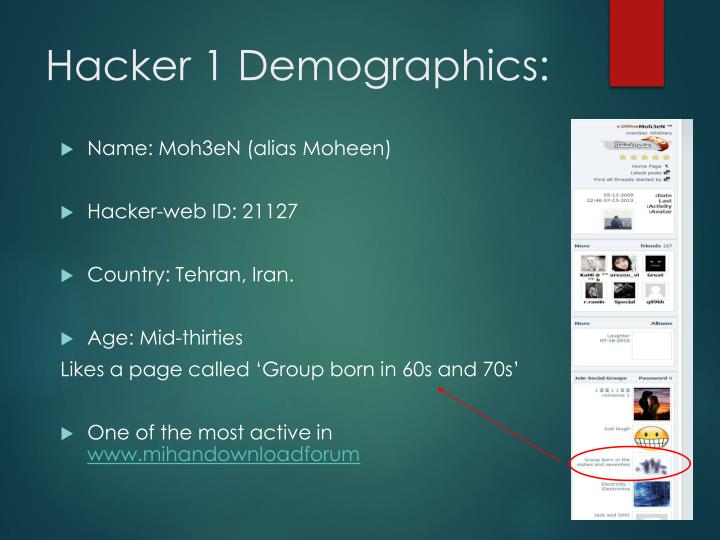 Hacker 1 Demographics: