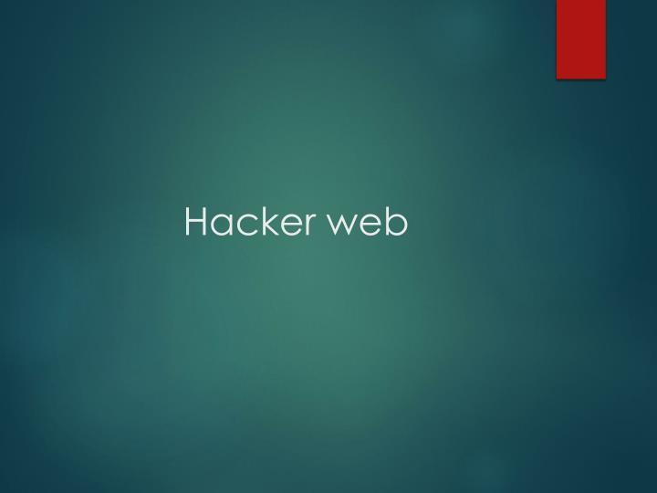 Hacker web