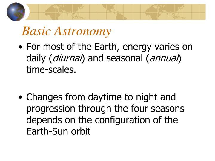 Basic Astronomy