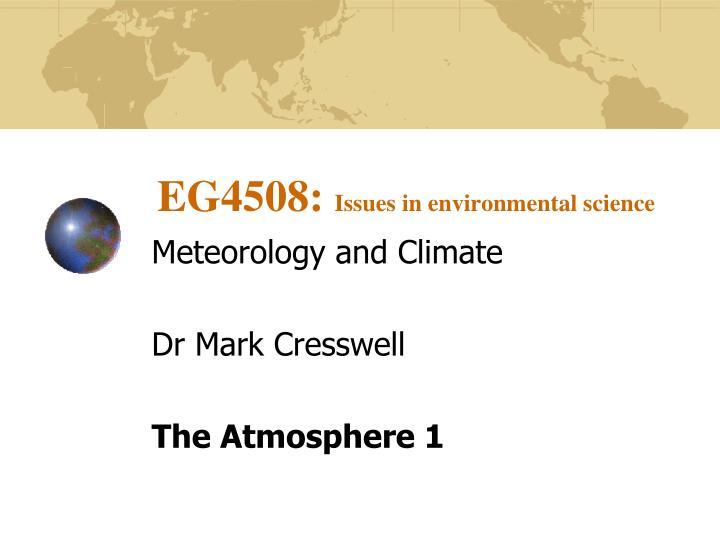 eg4508 issues in environmental science