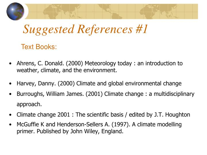 Suggested References #1