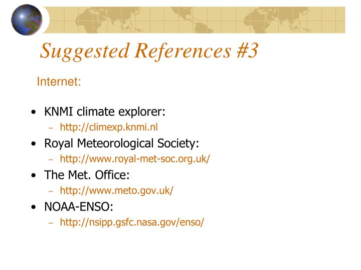 Suggested References #3