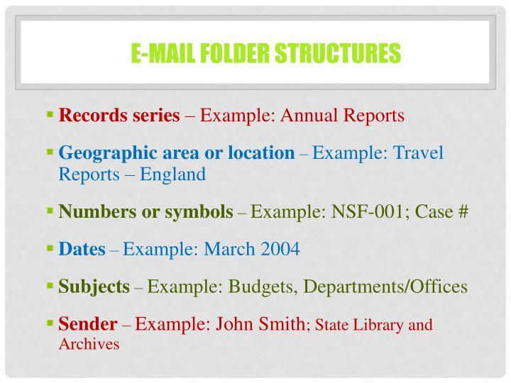 E-mail Folder Structures