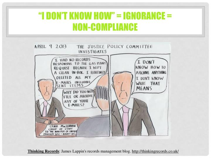 """""""I don't know how"""" = ignorance ="""