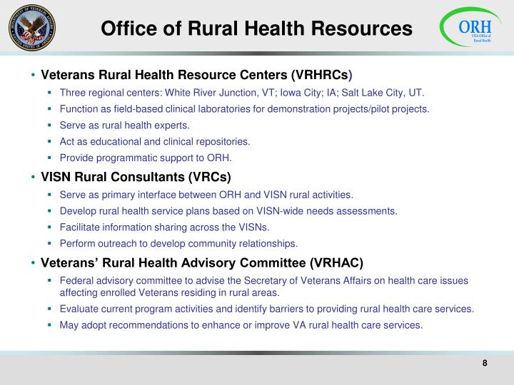 Office of Rural Health Resources