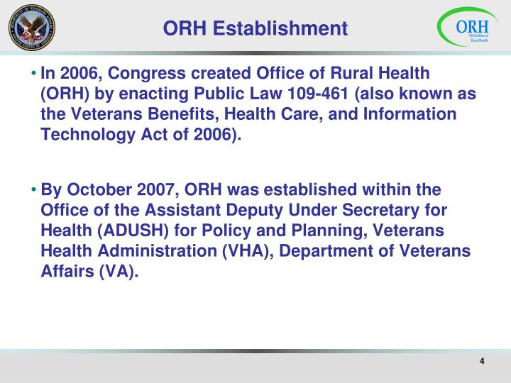 ORH Establishment