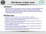 orh mission major goals