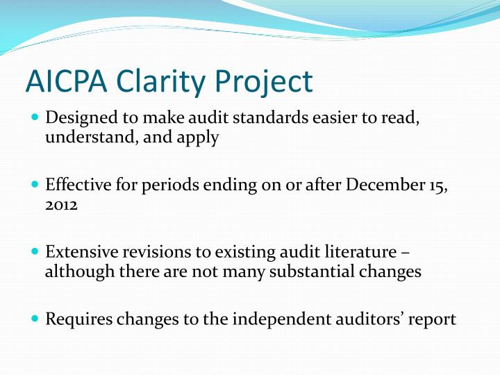 AICPA Clarity Project
