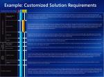 example customized solution requirements