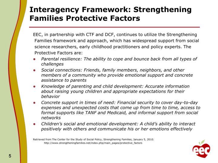 Interagency Framework: Strengthening Families Protective Factors