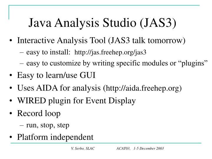 Java Analysis Studio (JAS3)