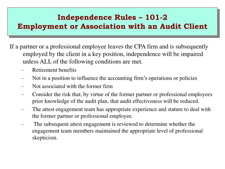 Independence Rules – 101-2
