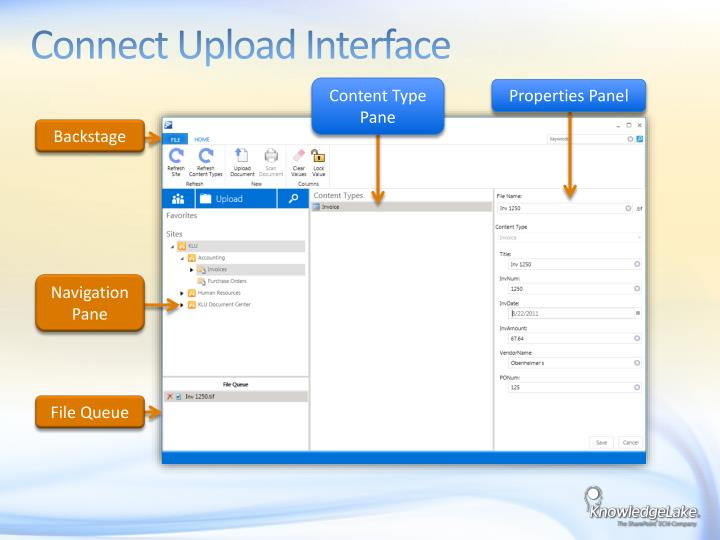 Connect Upload Interface