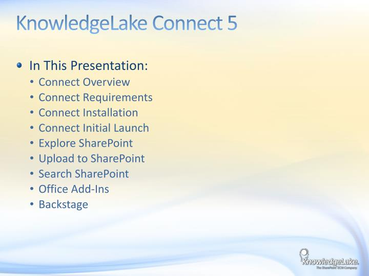 KnowledgeLake Connect 5