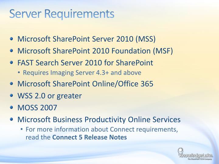 Server Requirements