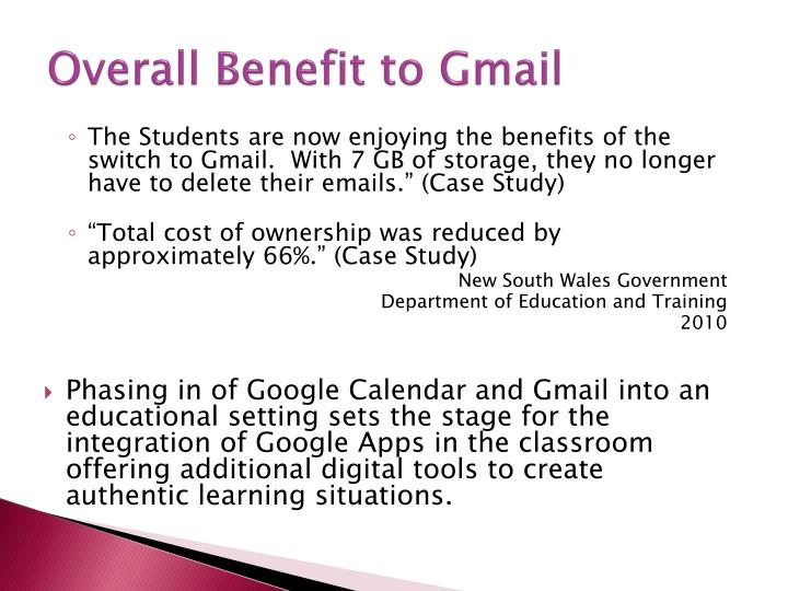 Overall Benefit to Gmail