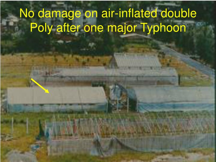 No damage on air-inflated double Poly after one major Typhoon